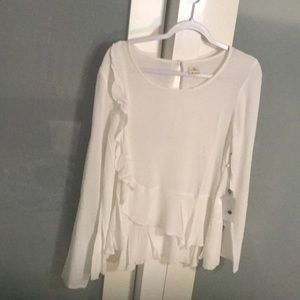 O'Neiil off White Side Frill Top